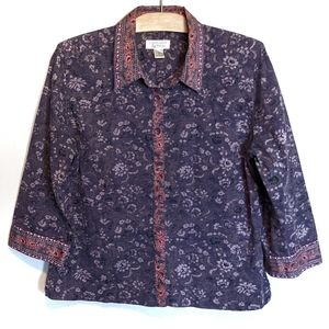 2for$22 Christopher Banks button up S boho floral